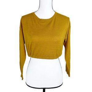 Oak + Fort Mustard Cropped Sweater